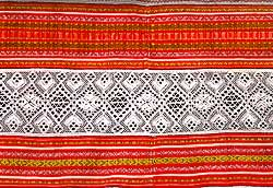 Women shirt's decorated hem(detail)