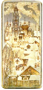 "S.Kozlov. ""Winter at Sergiev Posad"""
