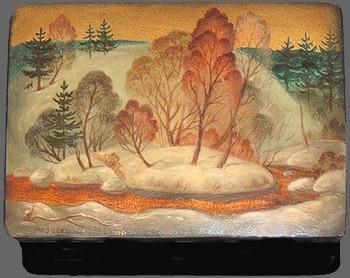 Levitskaya. &;hiver russer&;