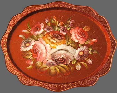 O.Bolshova. Oval winged tray