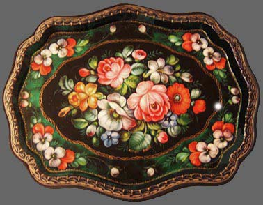 S.Pronin. Oval winged tray