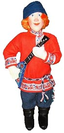 "Tver toy. ""Boy with balalaika"""