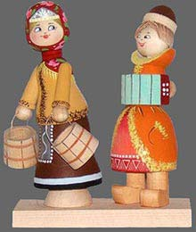 "Tver toys.""Once a Maiden was walking for water"""